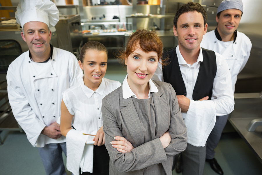 Customer service team restuarant